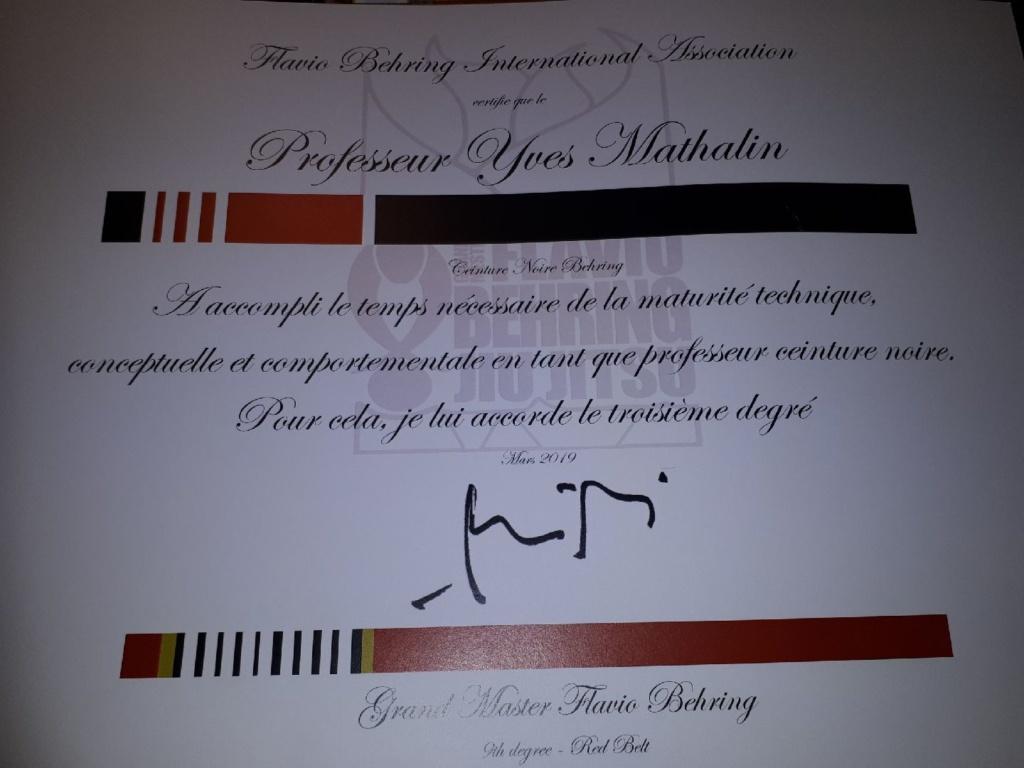troisième degré en JJB pour Yves Mathalin - Riedisheim Arts Martiaux